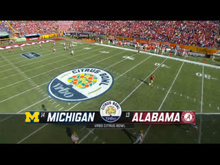 NCAAF 2019 / Citrus Bowl / (14) Michigan Wolverines - (13) Alabama Crimson Tide / 1H / EN
