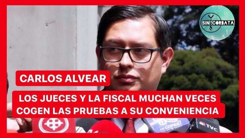 CARLOS ALVEAR LOS JUECES Y LA FISCAL MUCHAS VECES TOMAN LAS PRUEBAS QUE LES CONVIENE - SIN CORBATA