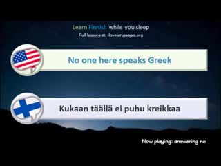 Learn Finnish while you sleep. 5 hours. 1000 Basic Words and Phrases