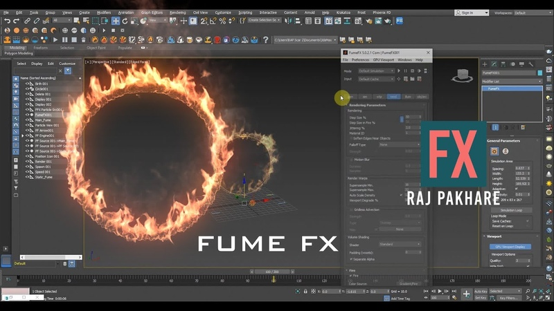 Ring Fire Tutorial in 3Ds Max | Fume FX 5.0 | Raj Pakhare