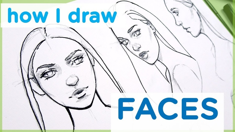 How to Draw a Female Face - Art Tutorial【My Sketching Technique】