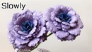 ABC TV How To Make Rose Flower 3 Slowly Flower Die Cuts - Craft Tutorial