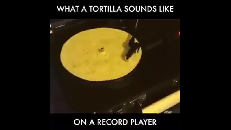 What a tortilla sounds like