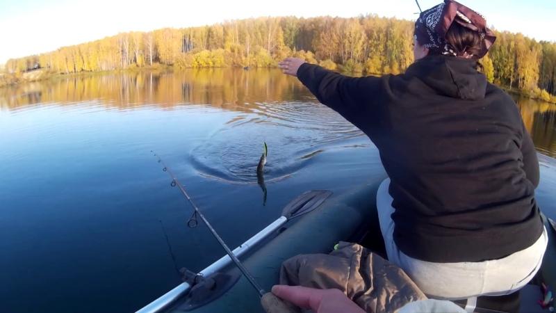 ЩУКА балдеет от этой приманки.Ловля щуки и окуня.Осенняя рыбалка.