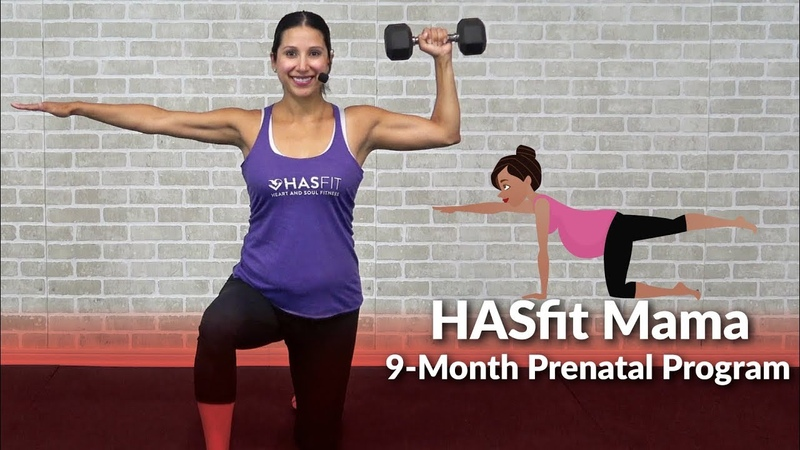 HASfit Mama 9 Month Prenatal Exercise Program Home Pregnancy Workout Plan 1st 2nd 3rd Trimesters