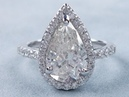 3.01 ctw Pear Shape I SI2 Diamond Engagement Ring - BigDiamondsUSA