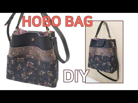 DIY 8 front pockets Hobo bag/Bag making tutorial/앞포켓이 8개인 호보백/가방 만들기/Machen Sie eine Hobo-Tasche