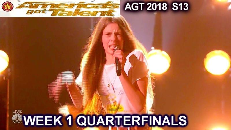 Courtney Hadwin Papa s Got A Brand New Bag AWESOME!!Quarterfinals 1 America s Got Talent 2018 AGT