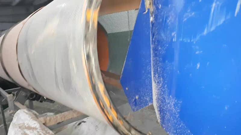 Гранулирование пеллет диаметром 8мм на грануляторе с кольцевой матрицей со скоростью 400кг в час