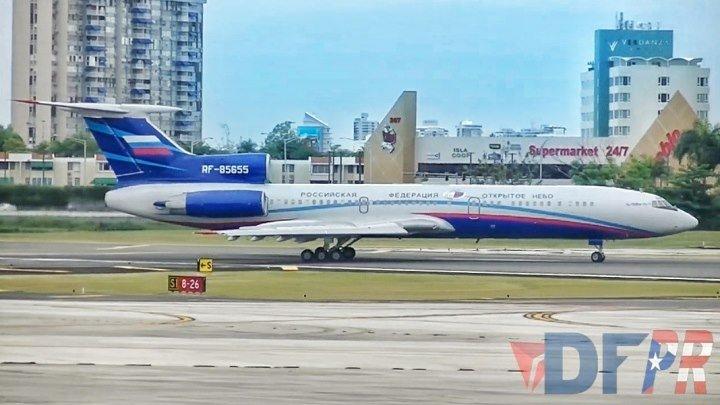 Прибытие Ту 154M ЛК 1 выполняющего полёты по программе Открытое небо в Международный аэропорт имени Луиса Муньоса Марина на Пуэрто Рико террит
