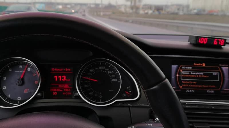 Разгон 0 100 Audi A5 2 0TFSI Quattro