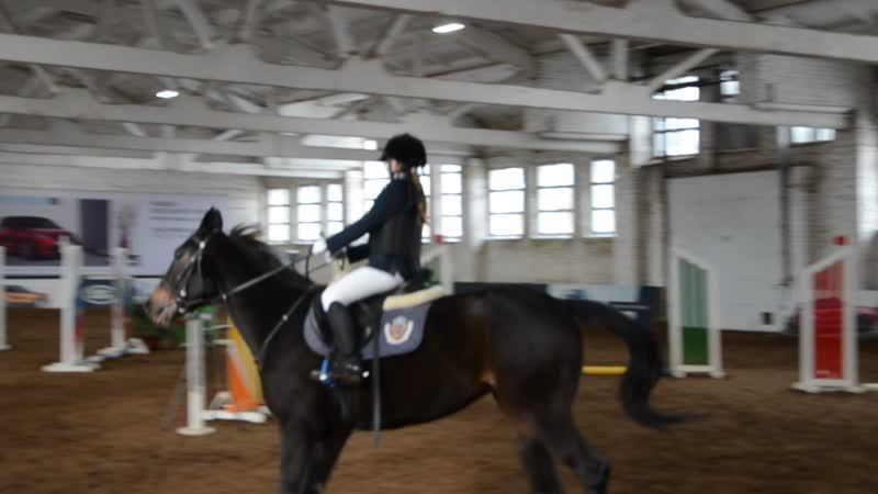 Соревнования по двоеборью 15 03 2020 2 день Жерди управление лошадью