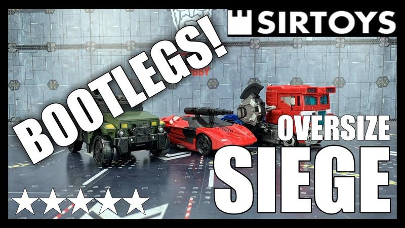 Sirtoys Oversize Transformers War For Cybertron Siege BPF Optimus Sideswipe and Hound
