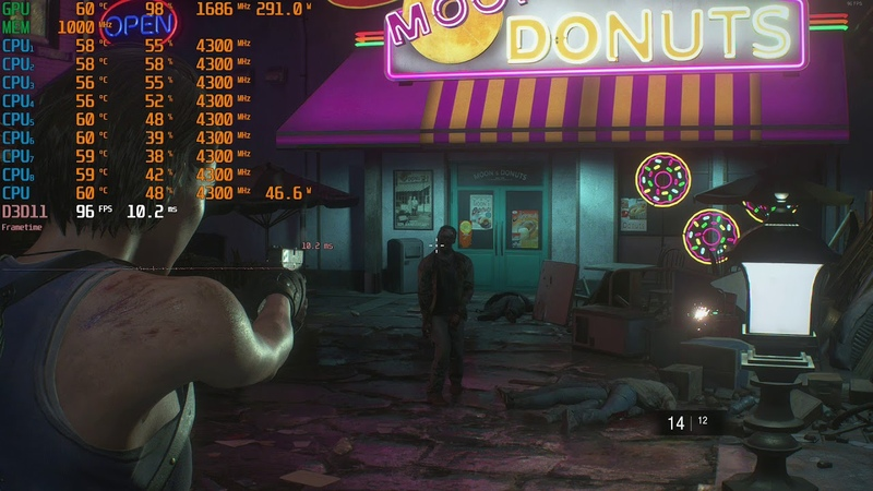Resident Evil 3 Raccoon City Demo 2k 1440p dx11 gameplay rx vega 64 liquid oc