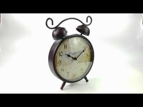 ML 5123 Antique copper Часы настольные Будильник малый