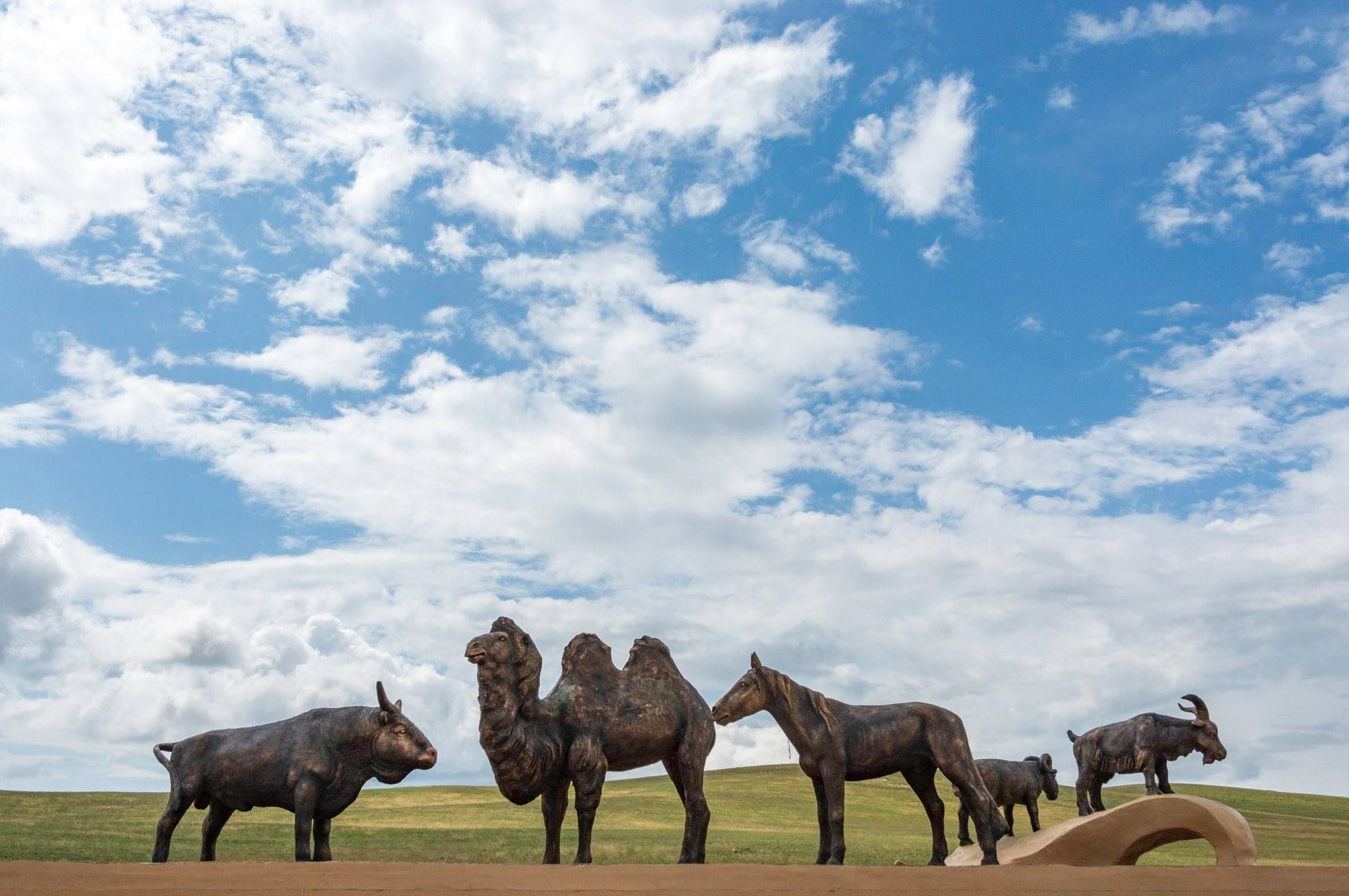 В Ацагате установили памятник сакральным животным (Видео)