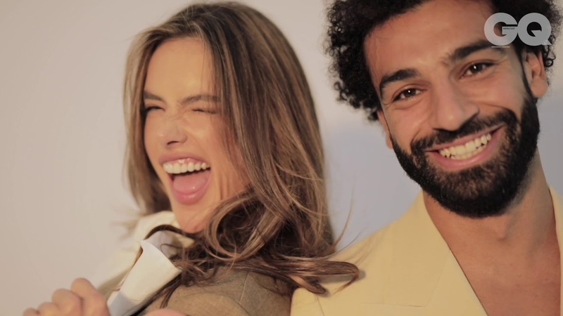 Mo Salah and Alessandra Ambrosio: GQ Middle East Behind The Scenes