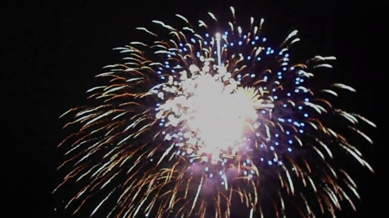 New Year's fireworks in Ukhta