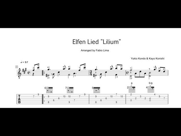 Elfen Lied - Lilium - Arranged by Fabio Lima - TAB