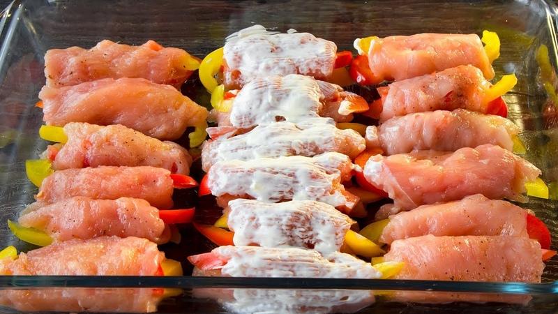 Идеальное сочетание ингредиентов и необычная подача простой куриной грудки! | Appetitno.TV