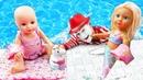 Смешные видео с куклами. Беби бон Русалочка купает Анабель. Весёлые игры для детей