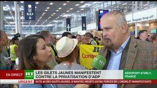 Acte 44 : les Gilets jaunes manifestent à Orly contre la privatisation d'ADP