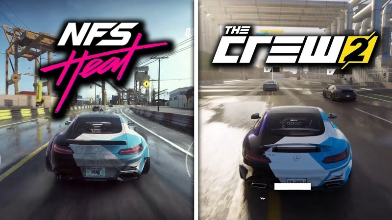 NEED FOR SPEED HEAT vs THE CREW 2 Side By Side Day Night Gameplay Comparison