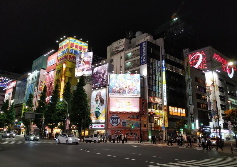 Акихабара ночью