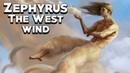 Zephyrus: The West Wind - Mythology Dictionary - See U in History - Greek Myhotology