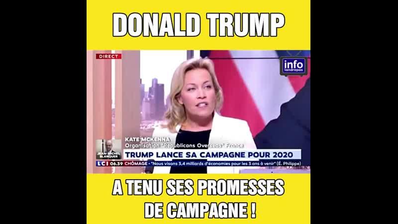 Donald Trump a tenu ses promesses de campagne