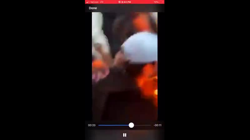 Rioter sets himself on fire in Fayetteville North Carolina