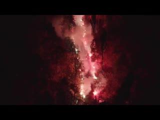 Огненная встреча Локо на стадионе