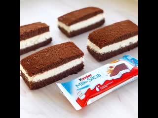 """kinder milk slice"" в домашних условиях. / наша группа в  ""торт-рецепт-vк""."