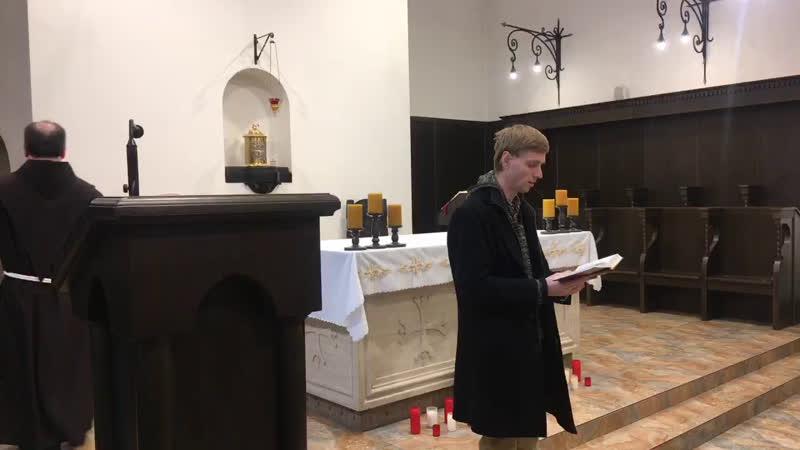 XXXII е рядовое воскресенье в монастырском храме св Антония Чудотворца