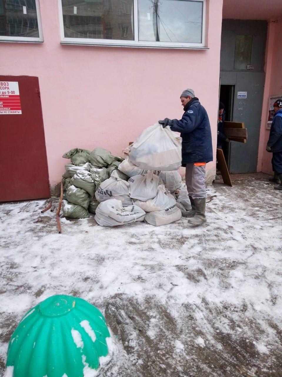 Улица Московская дом 101 чистка чердака от