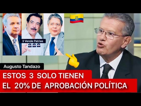Augusto Tandazo LOS PACTOS DE LASSO, NEBOT y LENIN PORFIN ESTAN CAYENDO AL PRECIPICIO 👎🦹🏻♂️😡