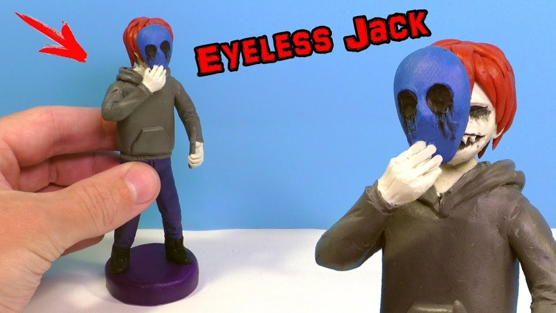 Лепим Безглазого Джека из Крипипасты Eyeless Jack from clay