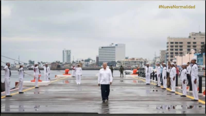 AMLO DíaDeLaMarina desde V Región Naval en Isla Mujeres Quintana Roo