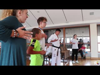 Kyokushin karate training in children clinic lets join the fight together