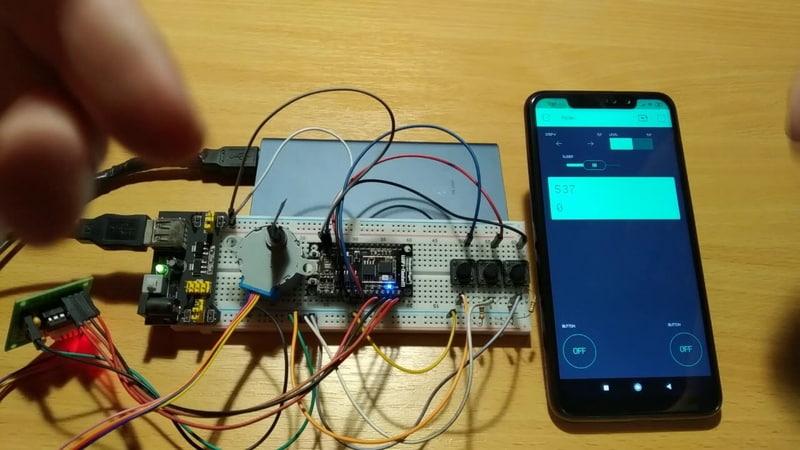 Подключение и управление двигателем 28BYJ 48 через программу на Android под названием Blynk