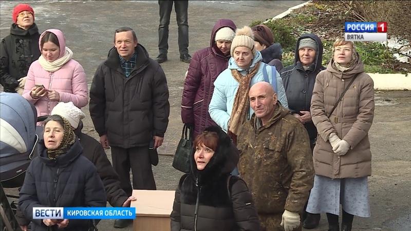 В Кирове освятили два купола храма Великомученика и целителя Пантелеимона (ГТРК Вятка)