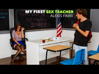 Alexis Fawx – My First Sex Teacher [NaughtyAmerica] Big Tits, Brunette, Hairy, MILF, Stockings