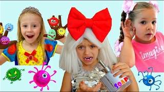 Лайк Настя  и друзя история как все дети мира моют руки с мылом, чтобы вы сидели дома miss Veroni4ka