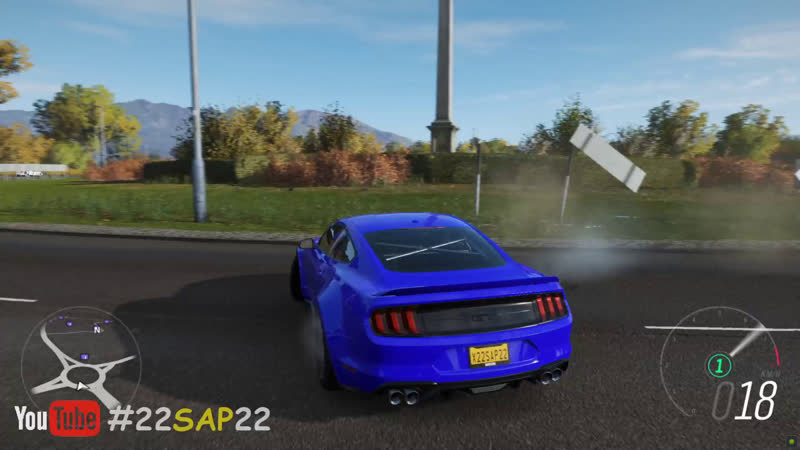 Forza Horizon 4 Ford Mustang GT (Steering Wheel Paddle Shifter) Gameplay