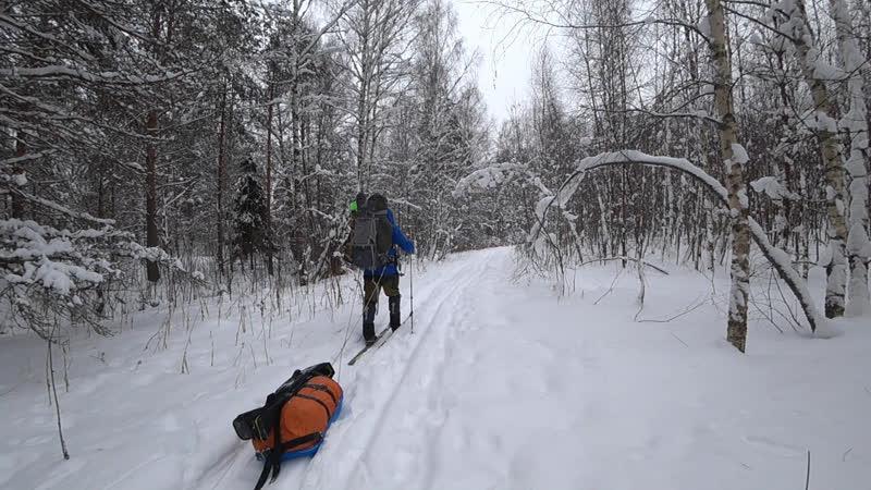 По седым снегам (Отрывок из видео Поход по лесам, по седым снегам)