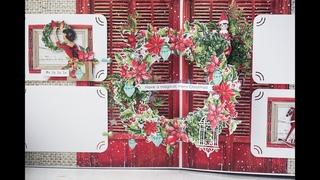 Поп ап по-новогоднему Конструкция венок / Pop up Christmas wreath