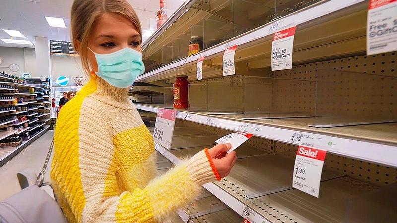 Коронавирус и паника в США Все скупают туалетную бумагу Пустые полки в супермаркетах