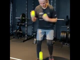 Тренировка на концентрация,ловкость и работу ног в боксе