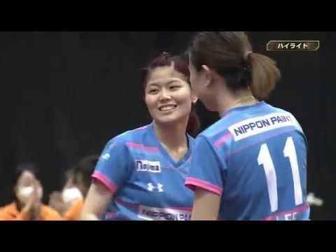 卓球 ノジマTリーグ2019 2020 2月14日 日本生命レッドエルフ vs 日本ペイントマレッツ
