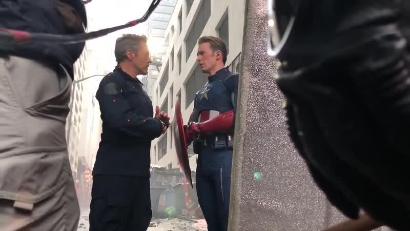 BTS of Tony, Cap and Ant Man in NY…AvengersAssemble